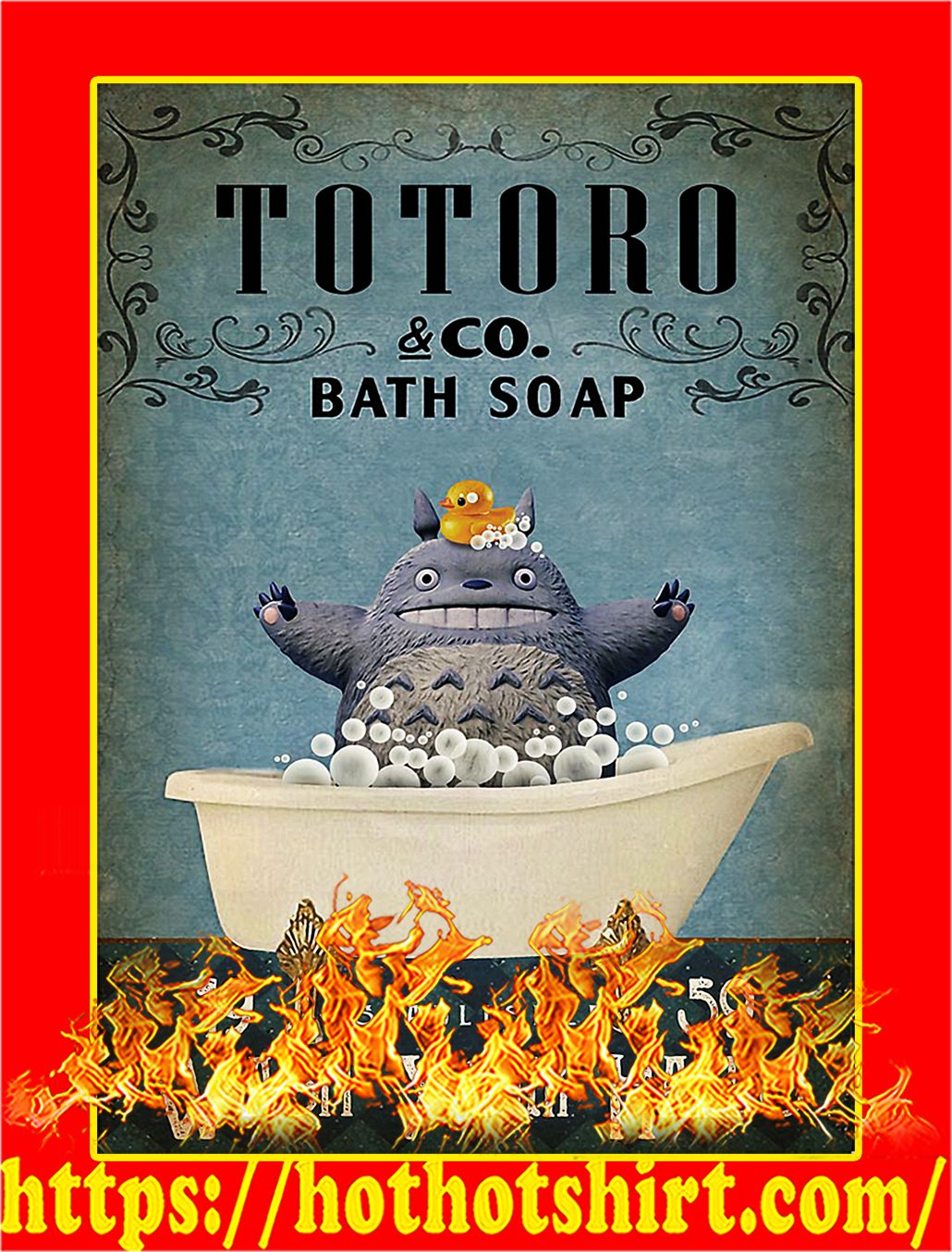 Totoro co bath soap wash your hands poster - A3