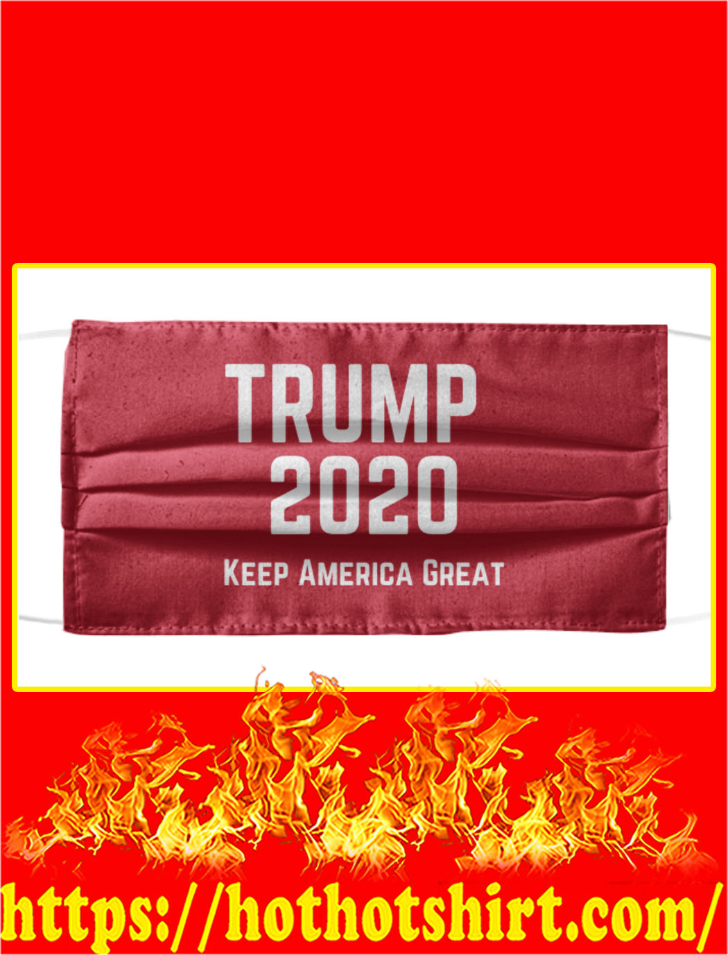 Trump 2020 keep america great face mask