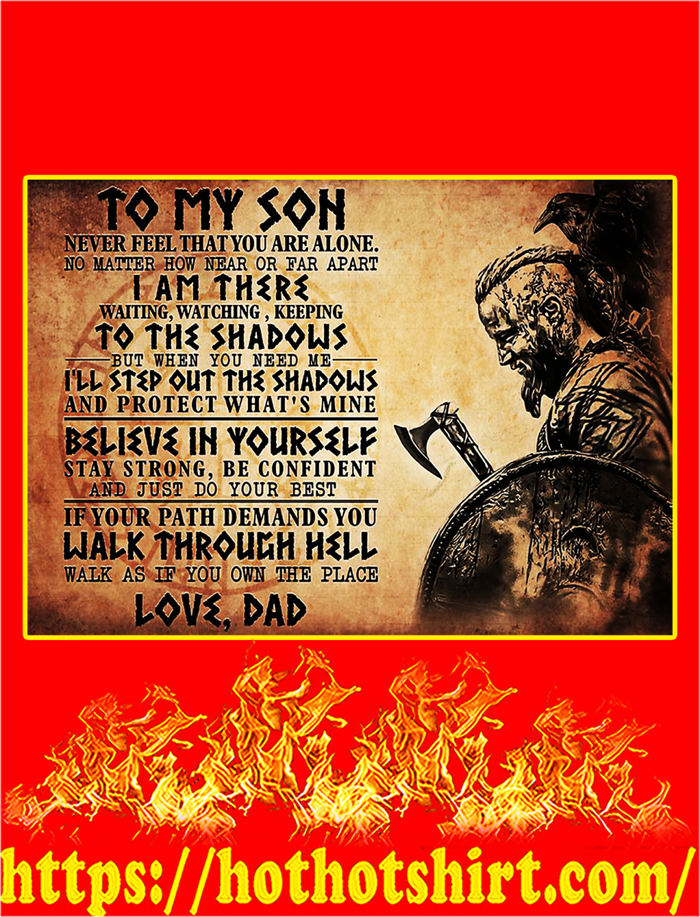 Viking To my son poster - A2