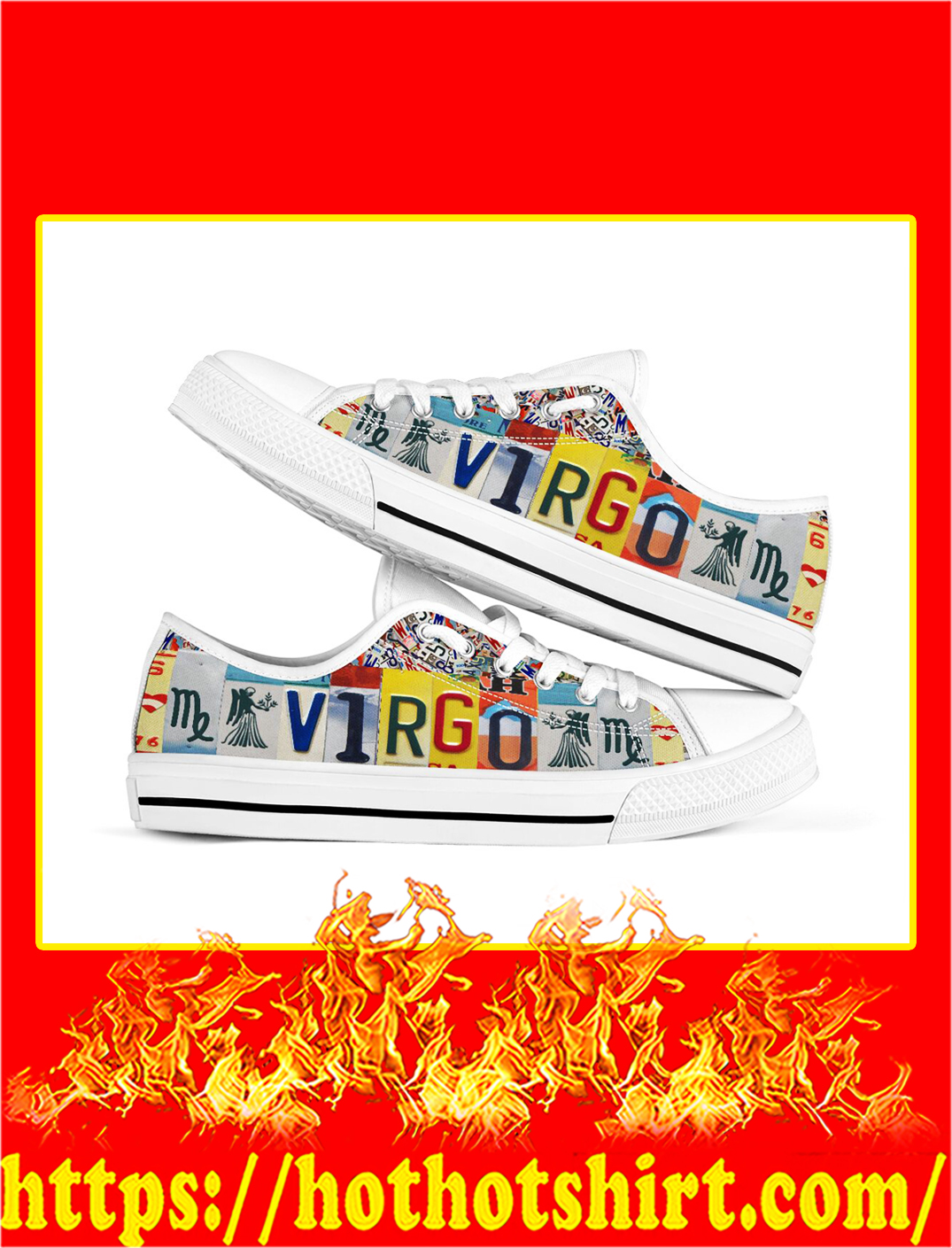 Virgo license plates low top shoes- pic 1
