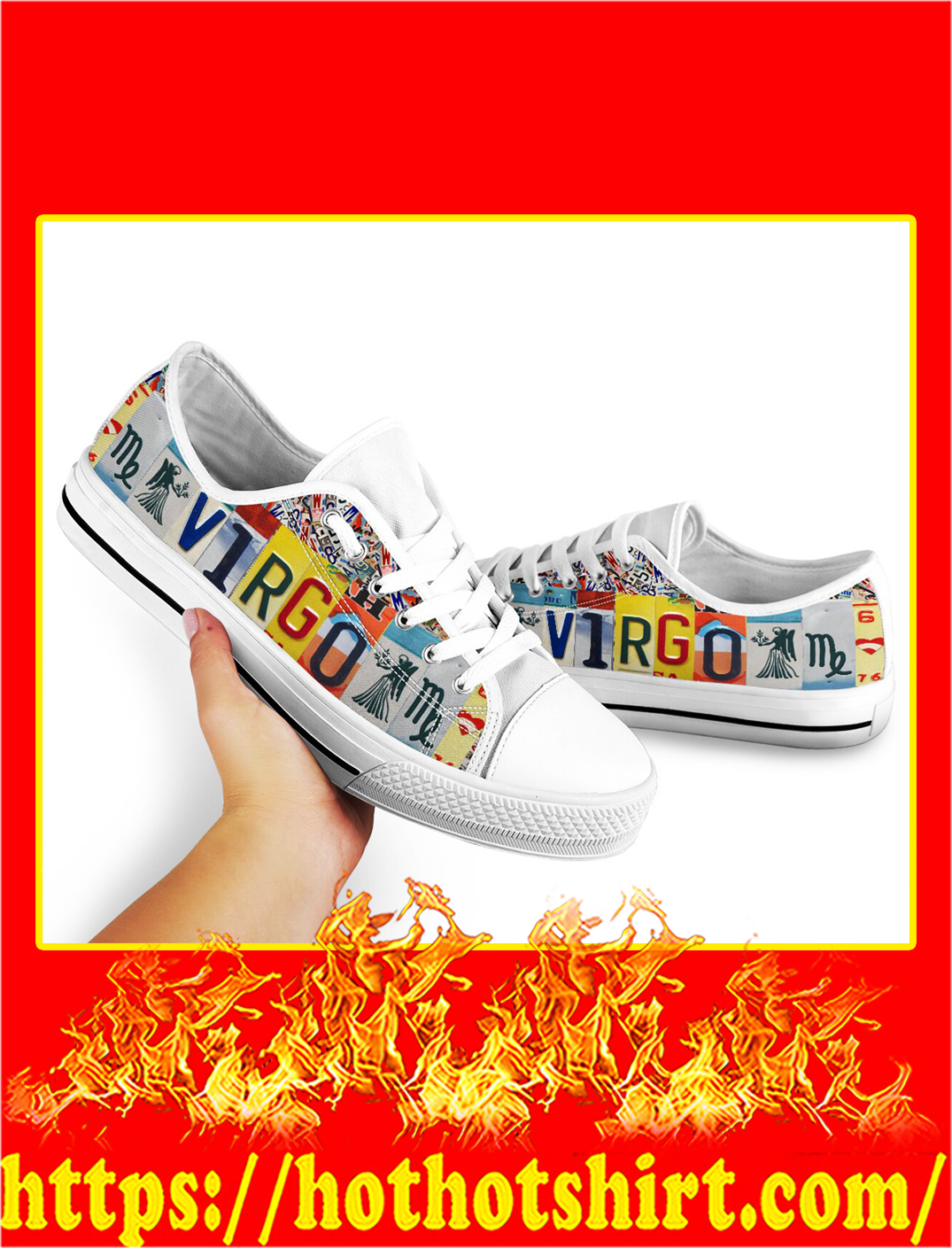 Virgo license plates low top shoes- pic 2