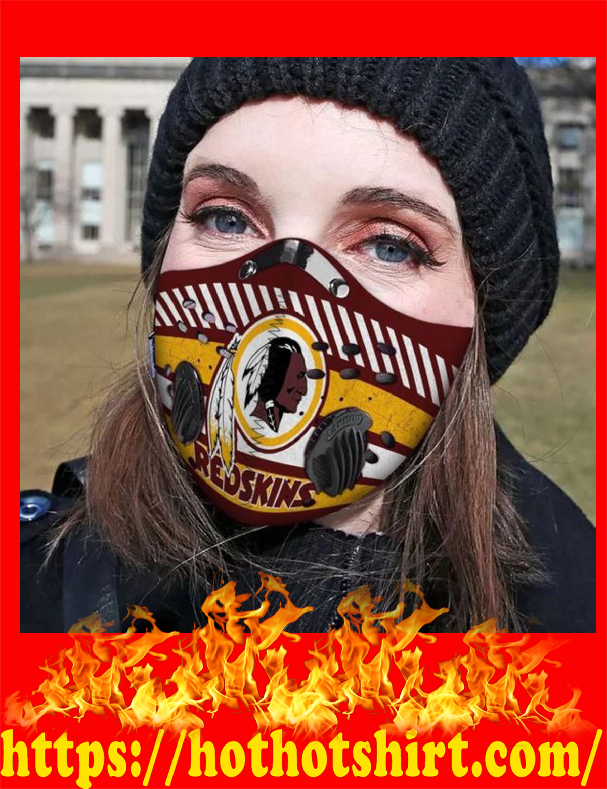 Washington redskins POD face mask - detail