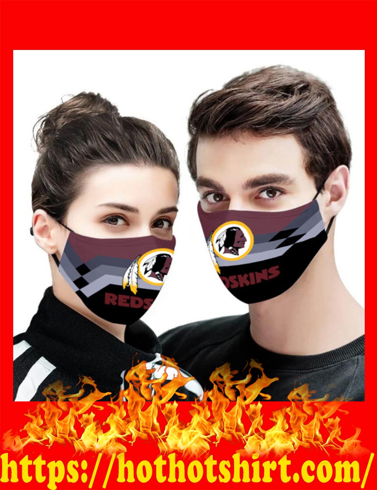 Washington redskins face mask - detail