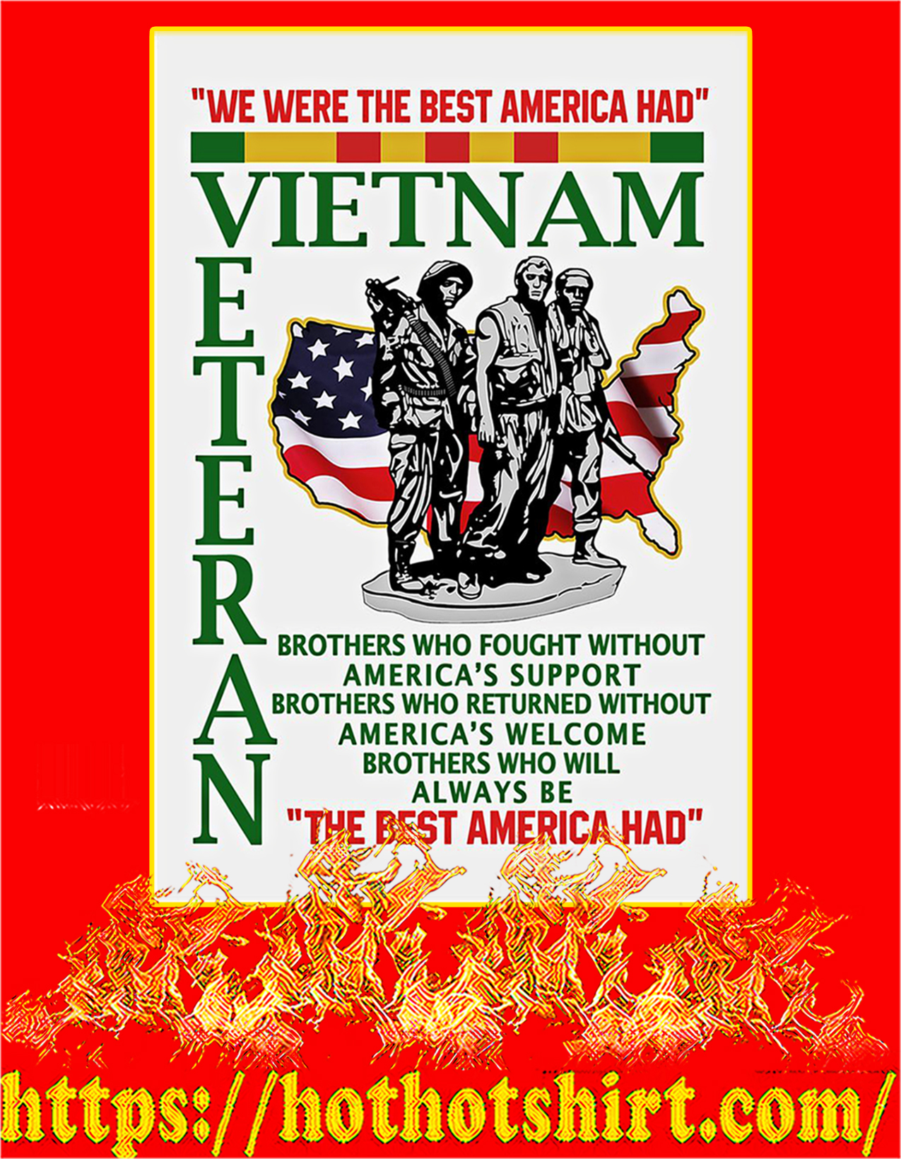 We were the best american had poster - A2