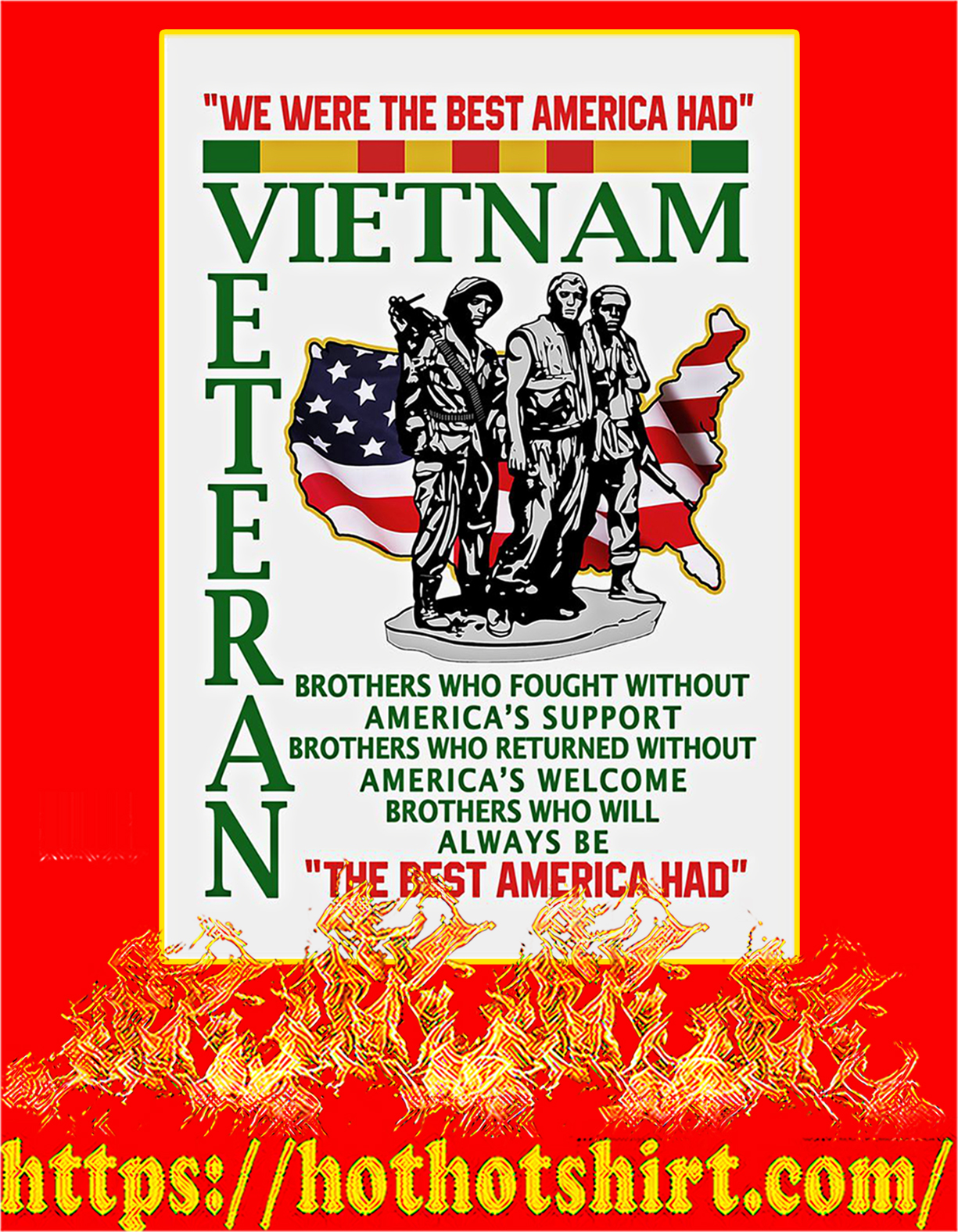 We were the best american had poster - A4