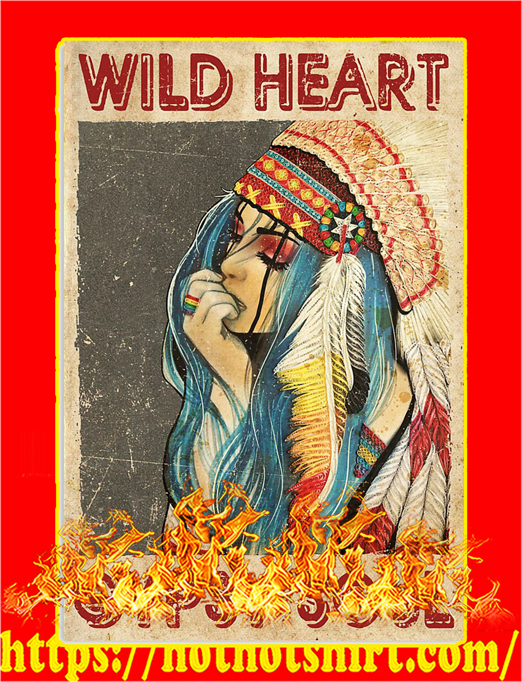 Wild heart gypsy soul poster - A3