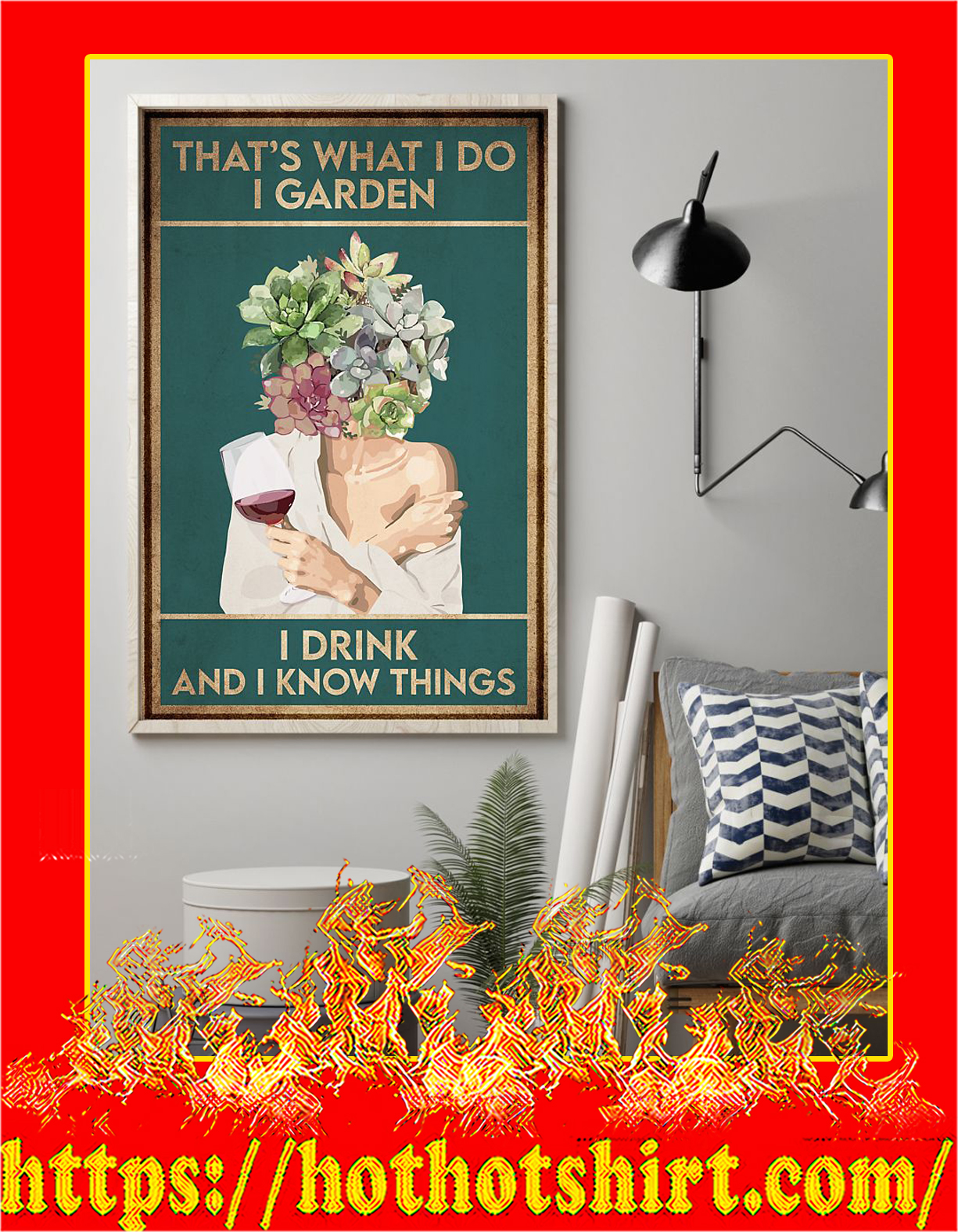 Wine that's what i do i garden i drink and i know things poster - Pic 1