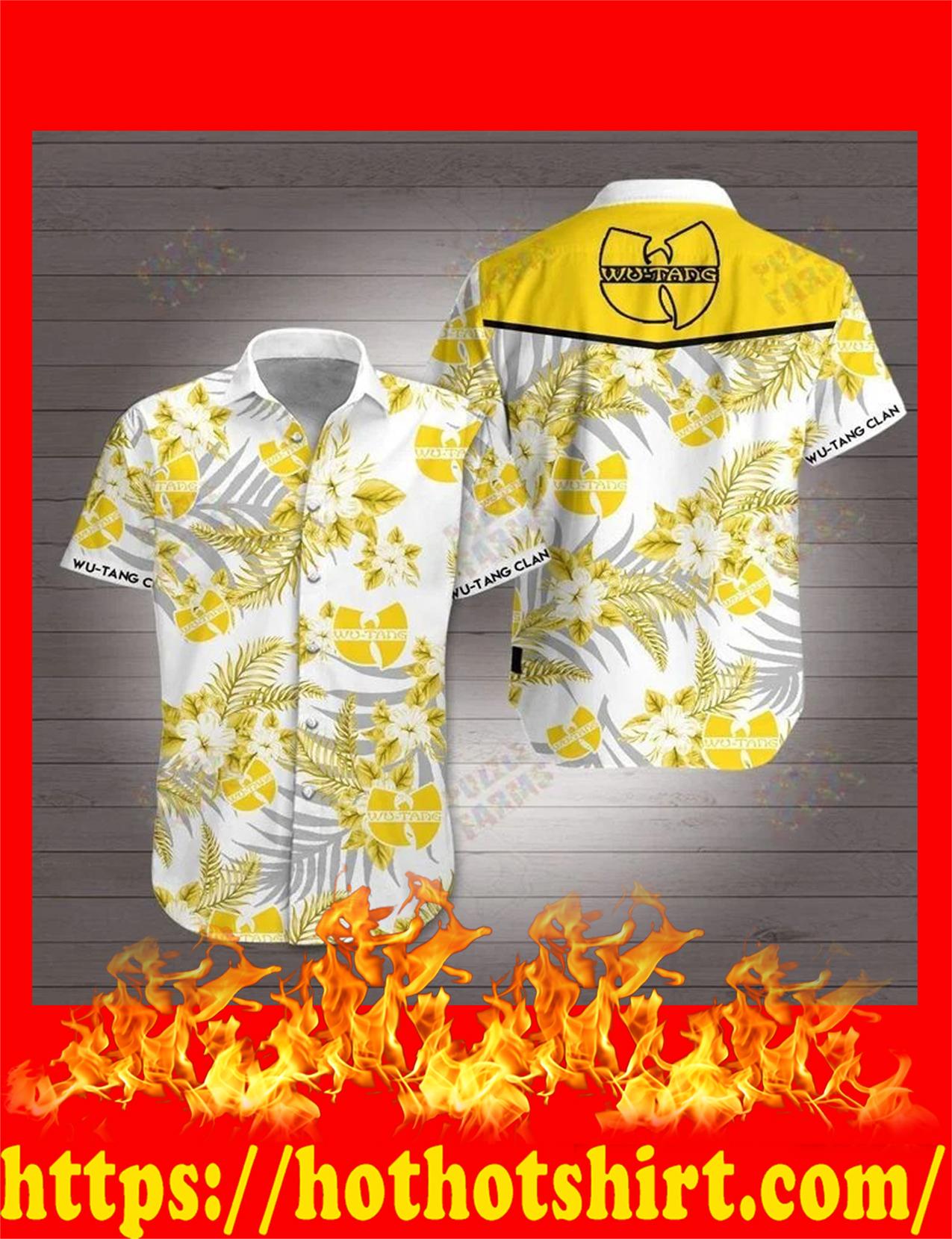 Wu tang clan 3d hawaiian shirt - detail