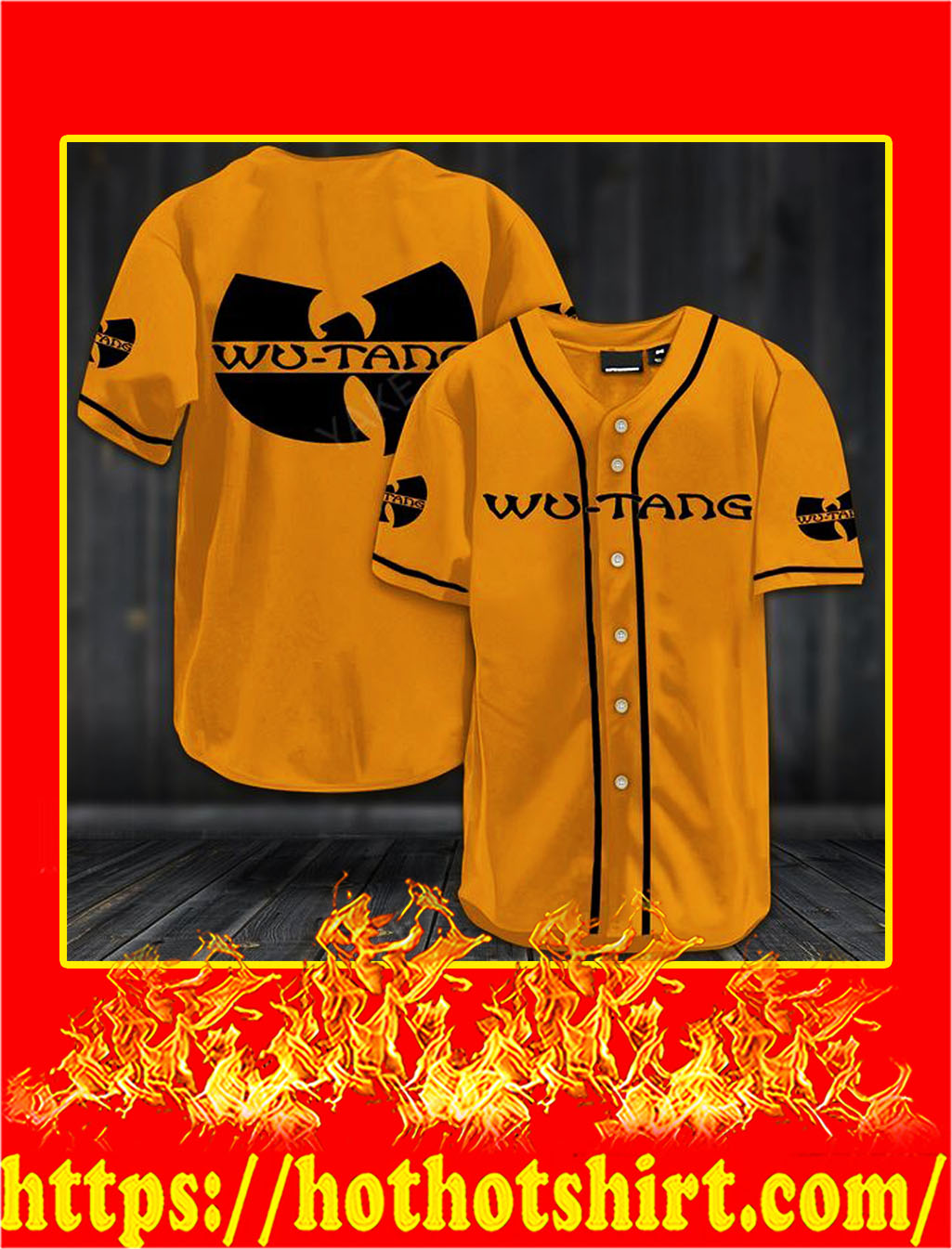 Wu-tang clan hawaiian shirt- gold