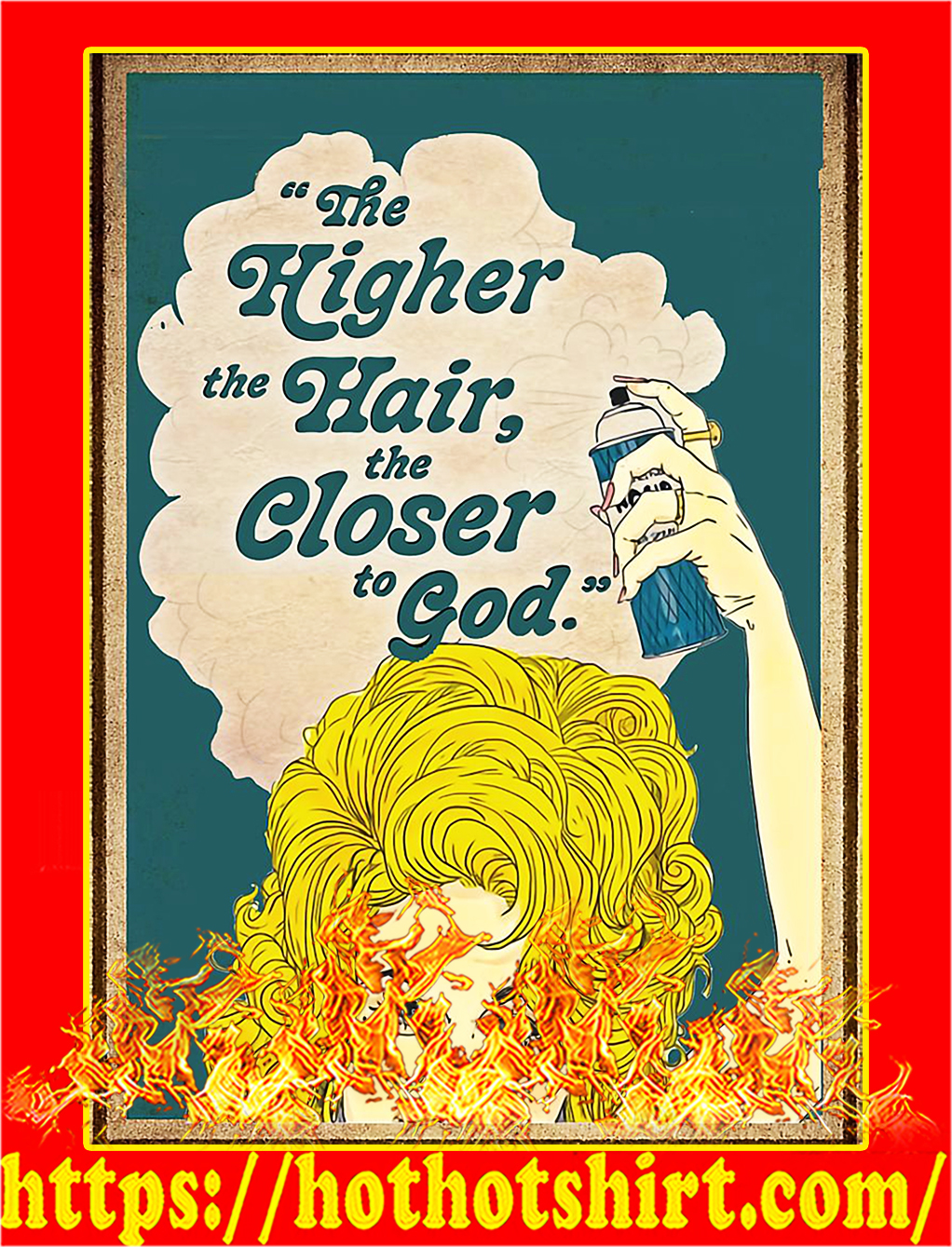 Yellow head The higher the hair the closer the god poster - A2
