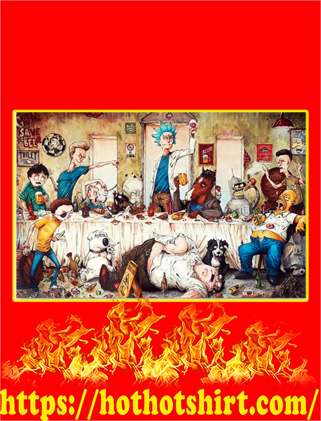 Adult cartoons art work by marcelo ventura poster - A3