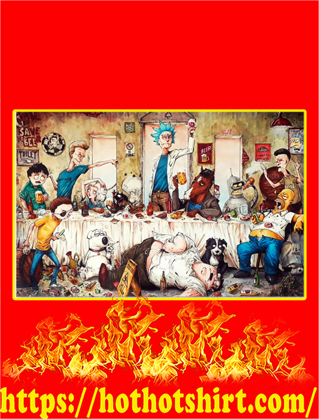 Adult cartoons art work by marcelo ventura poster - A4