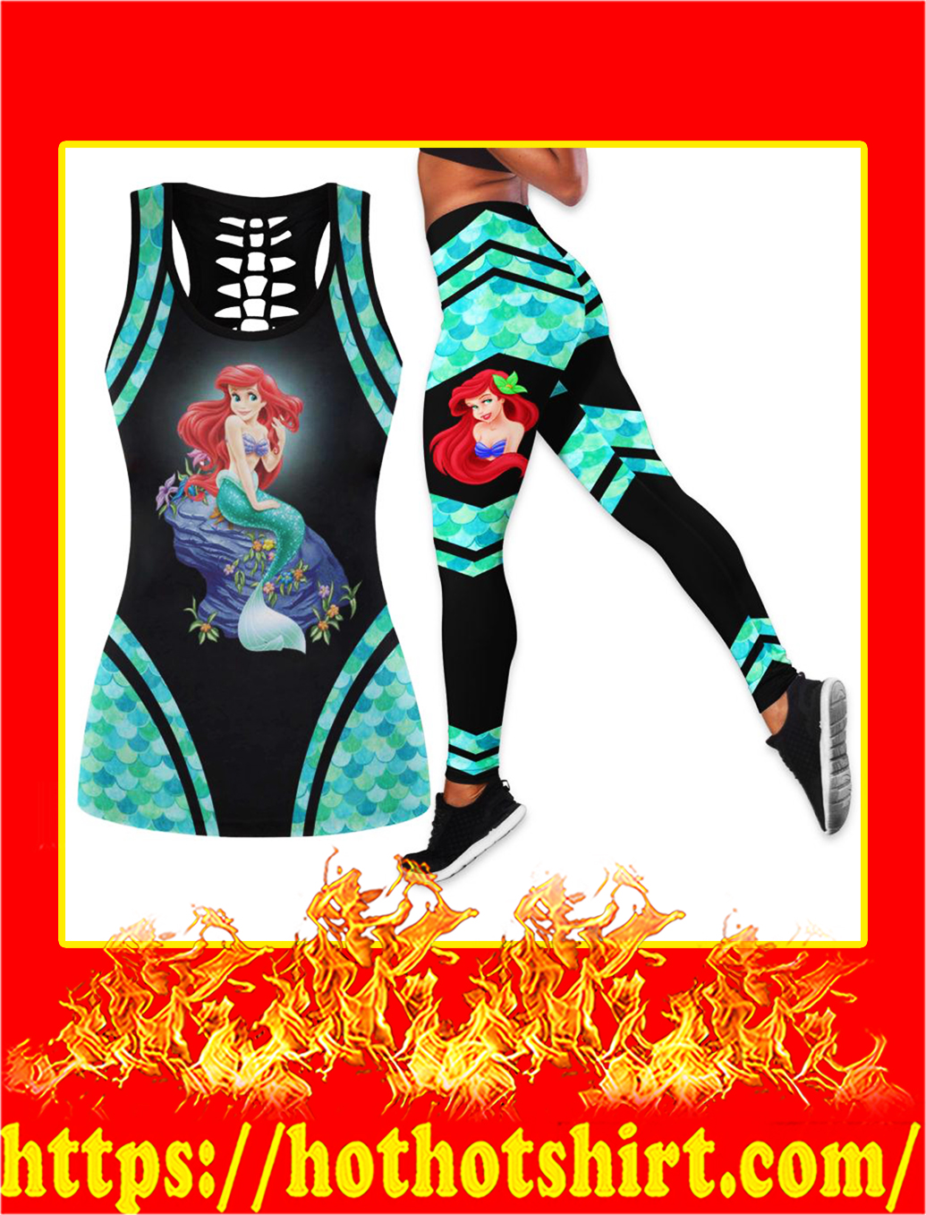 Ariel the little mermaid hollow legging
