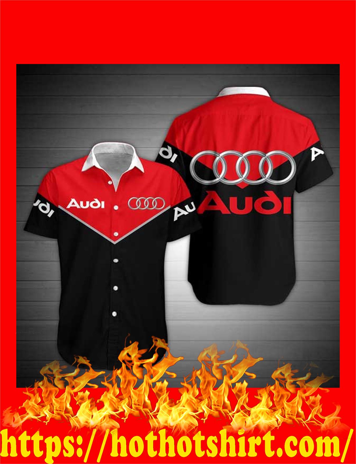 Audi hawaiian shirt - detail
