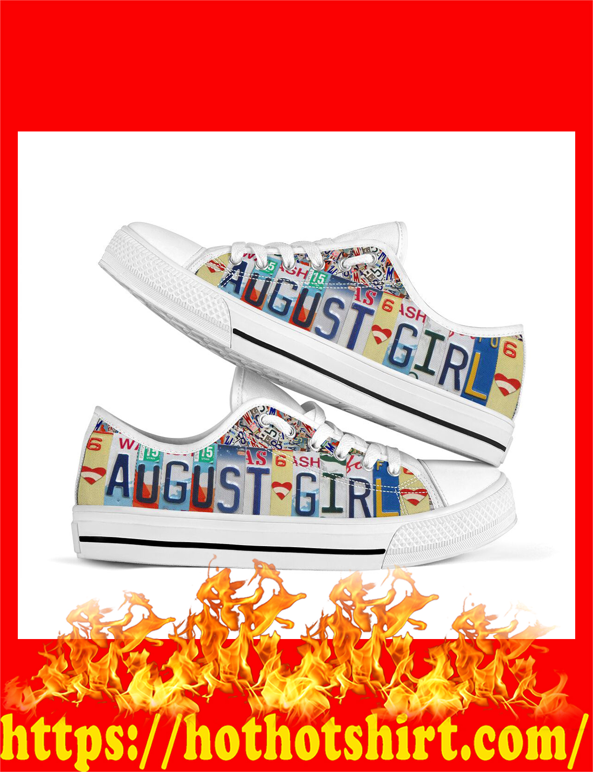 August girl low top shoes