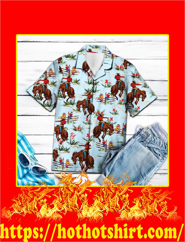 Awesome cowboy hawaiian shirt- pic 1