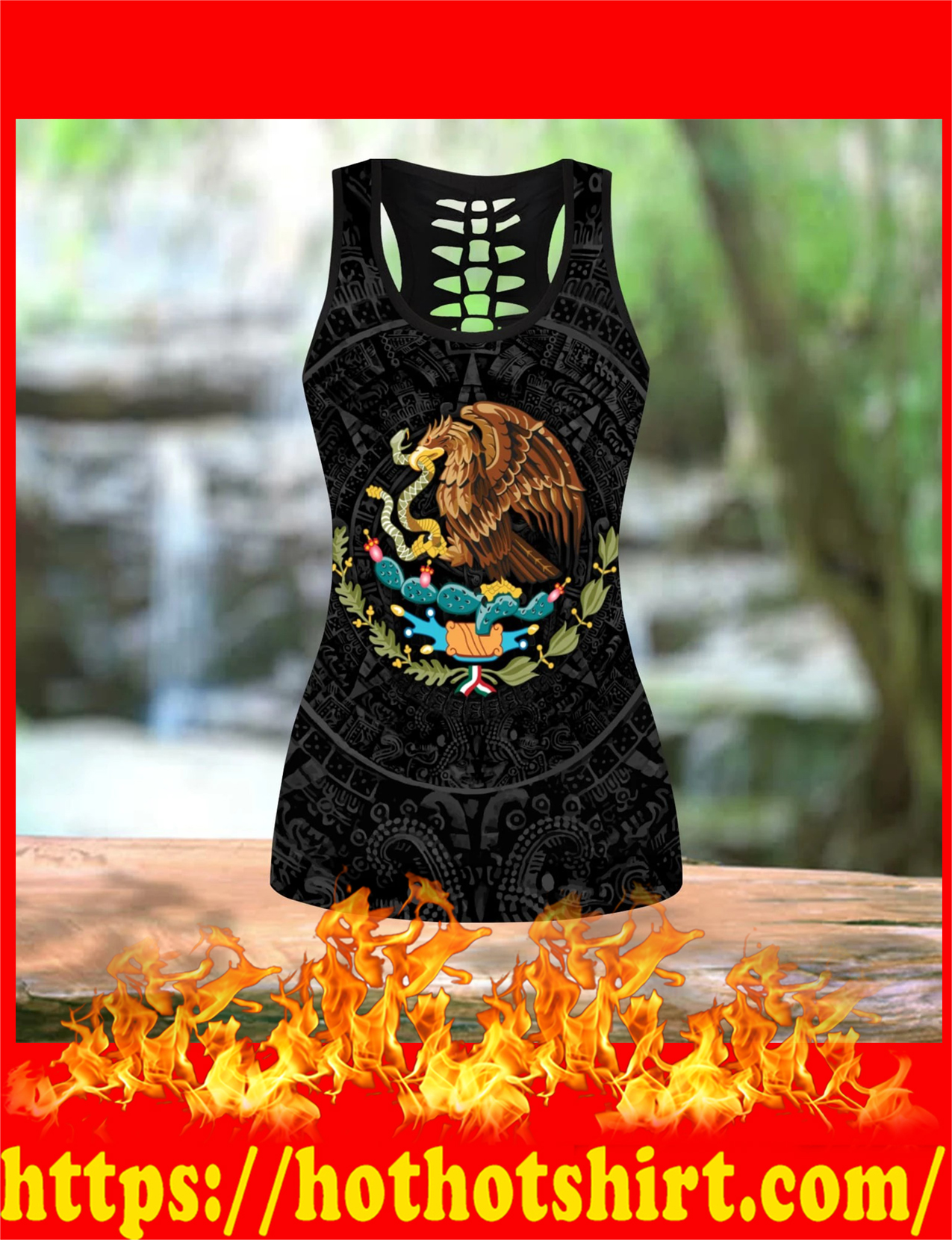 Aztec Mexico hollow tank top and legging 1
