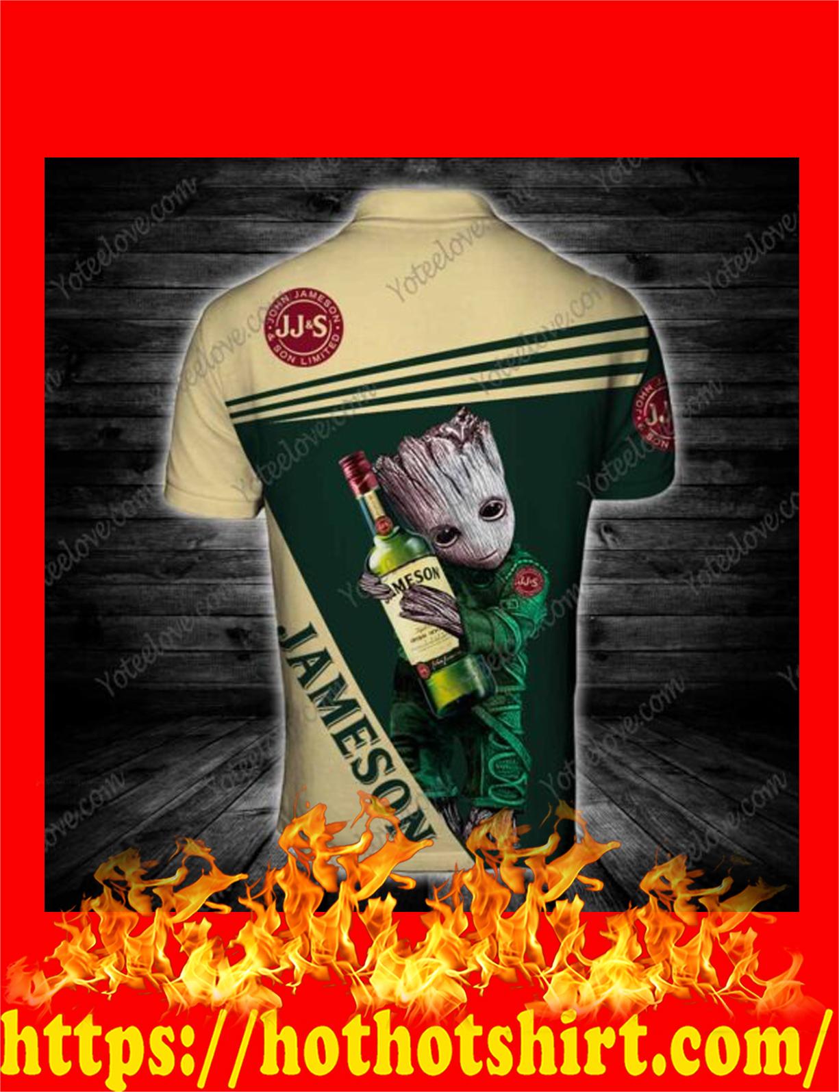 Baby groot hug jameson 3d polo shirt 2