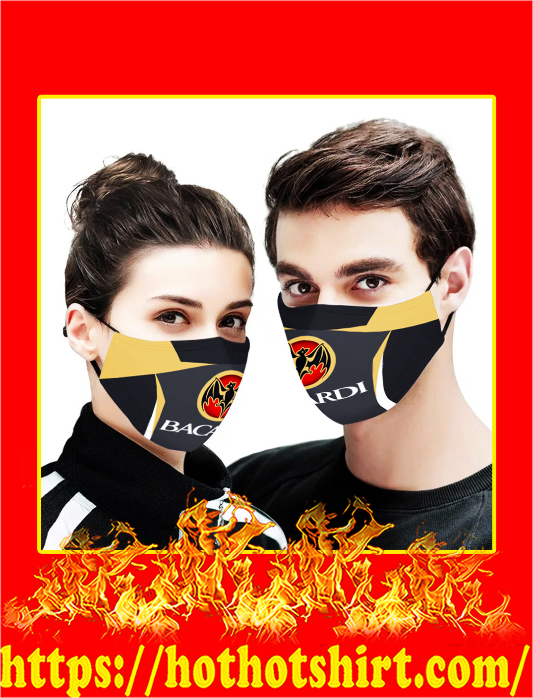 Bacardi cloth mask- pic 1