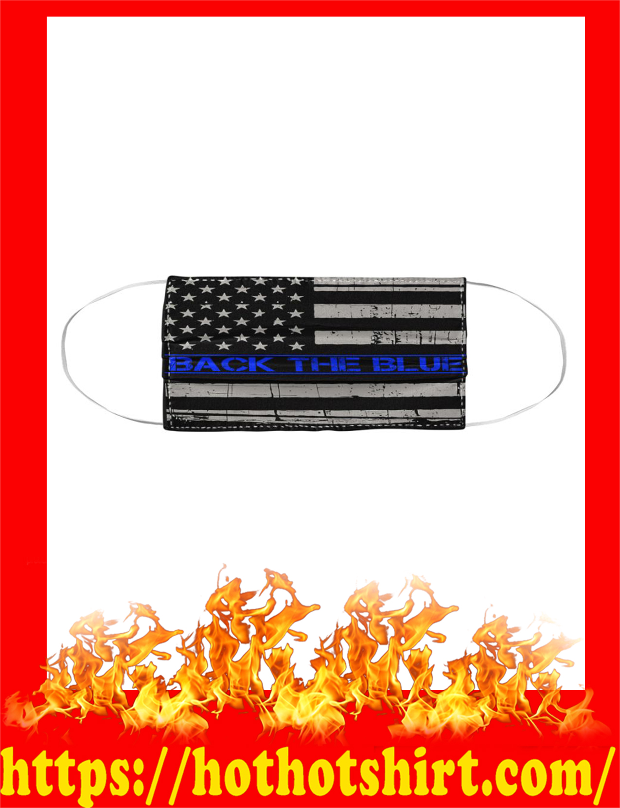 Back the blue american flag face mask 1