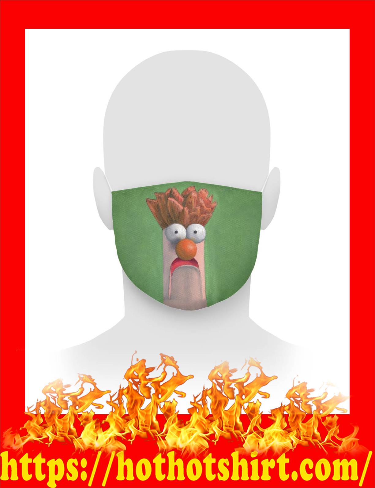 Beaker muppet face mask - detail