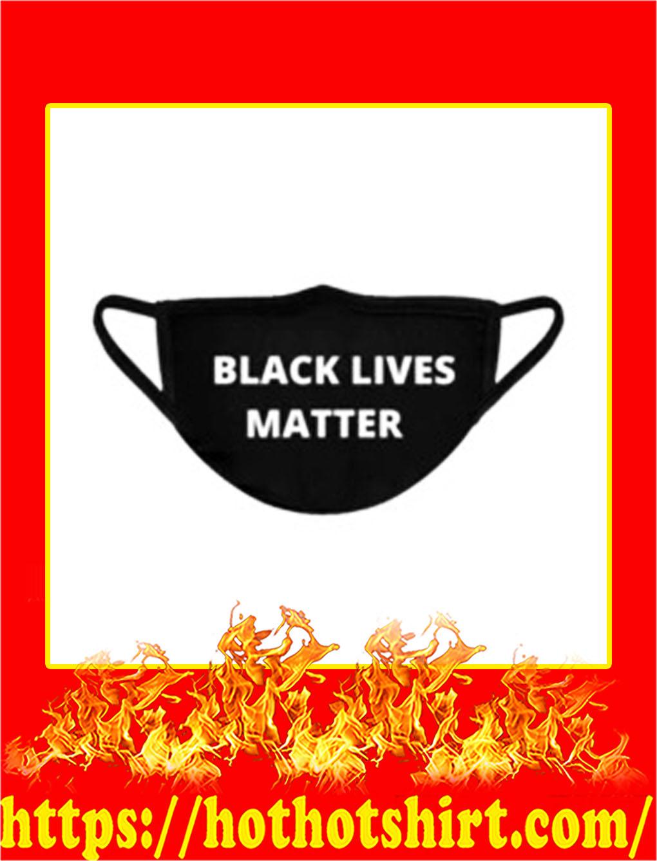 Black lives matter cloth face mask- pic 1