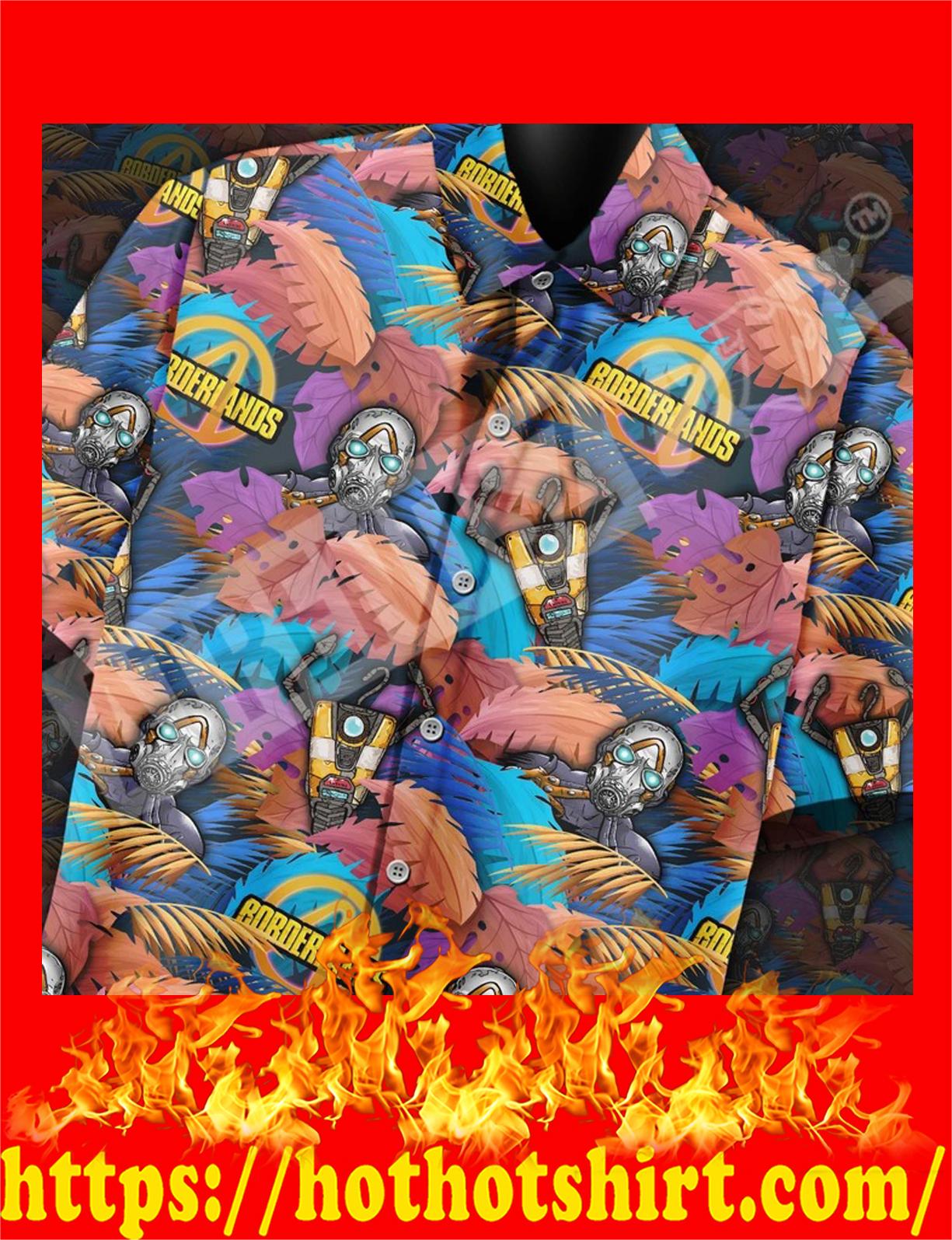 Borderlands all over print hawaiian shirt - detail