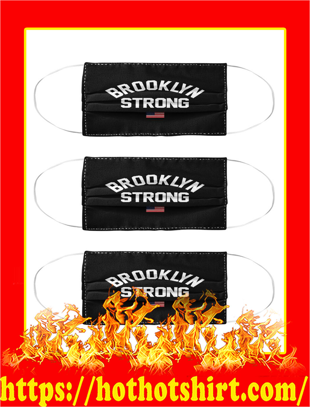Brooklyn strong face mask - pic 1