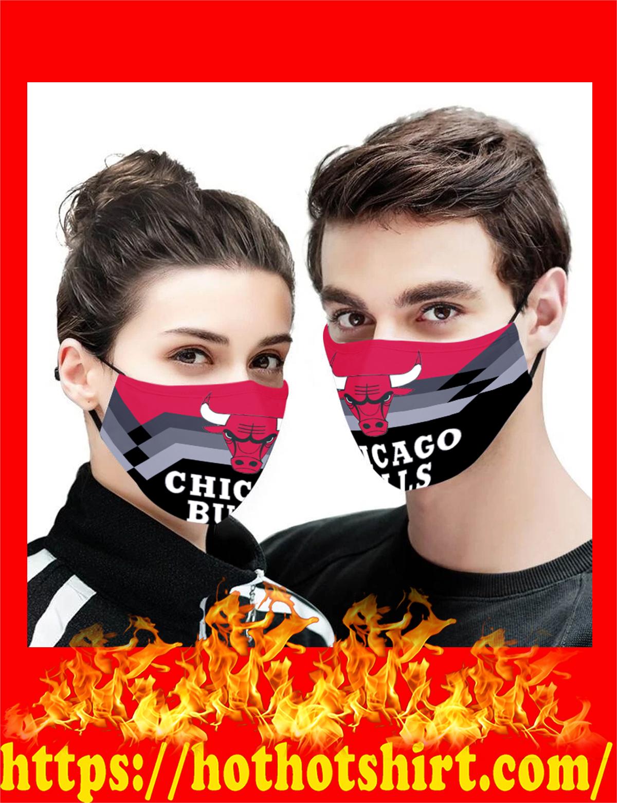 Chicago Bulls NBA face mask - detail