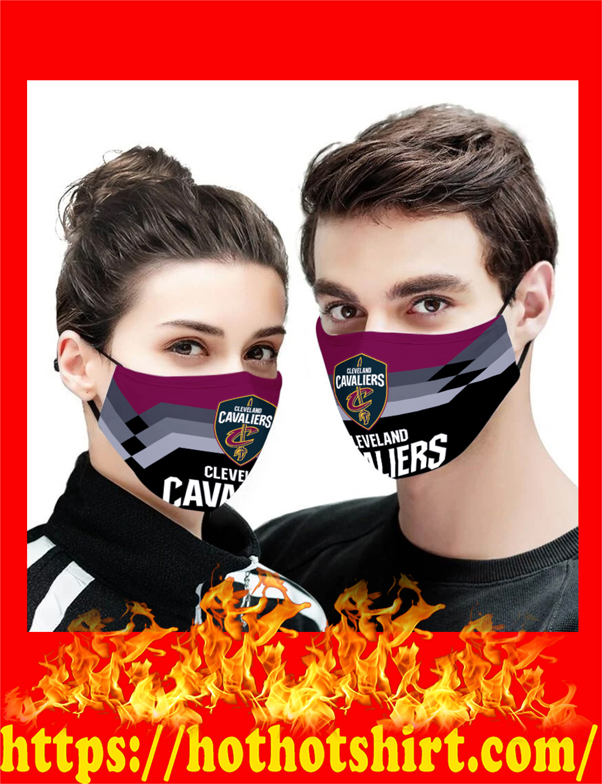 Cleveland Cavaliers NBA face mask - detail