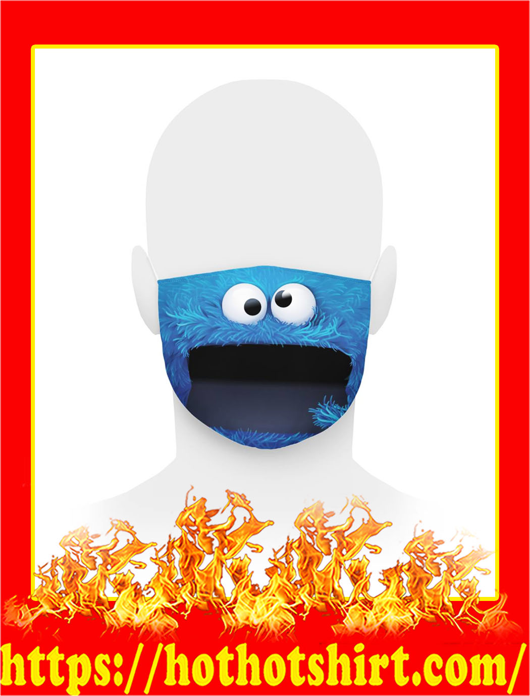 Cookie monster face mask- pic 1
