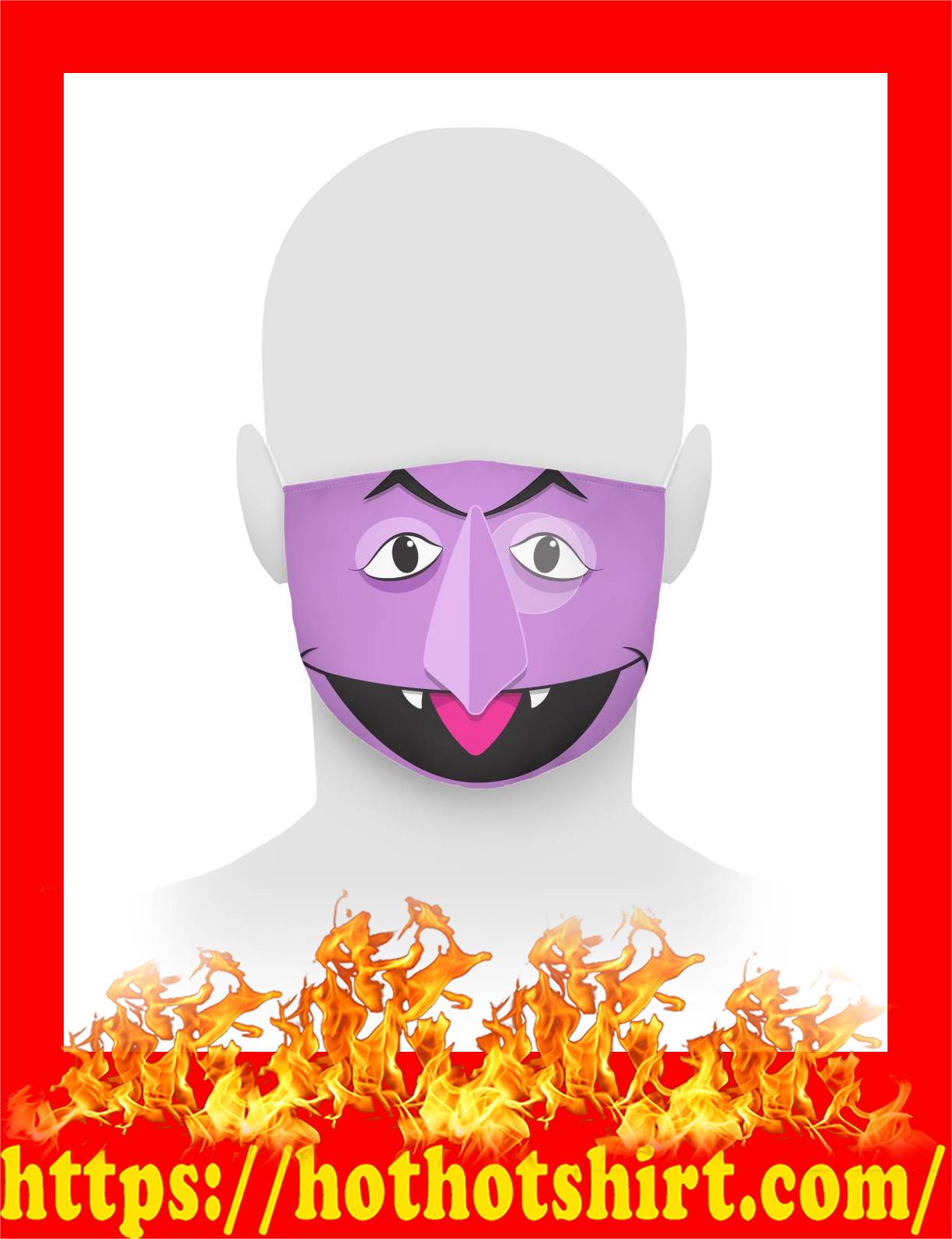 Count von count face mask - detail