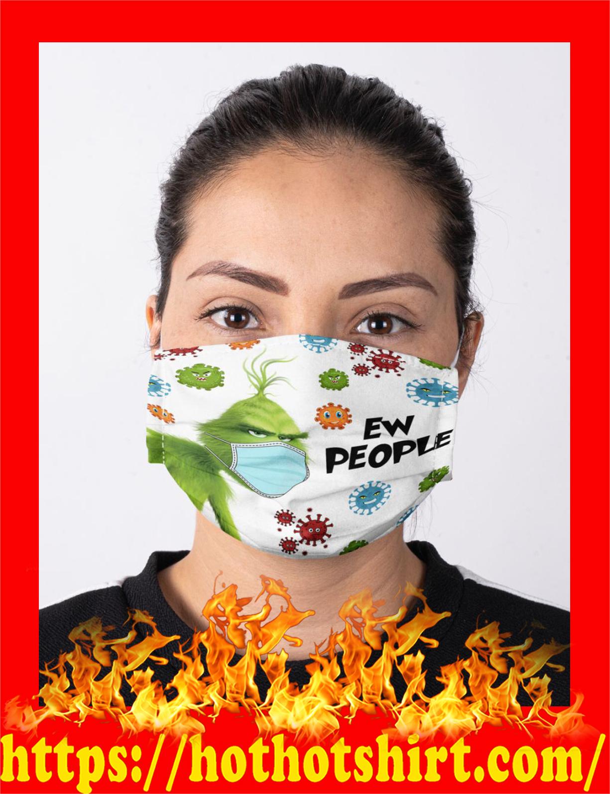 Cronavirus ew people grinch face mask - detail