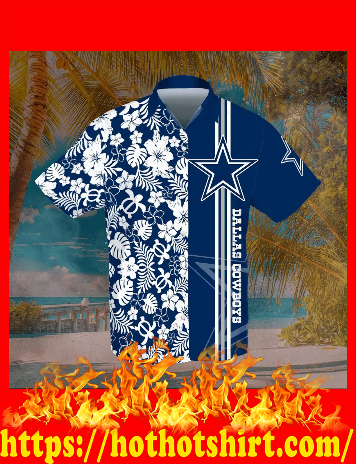 Dallas cowboys hawaiian shirt - detail