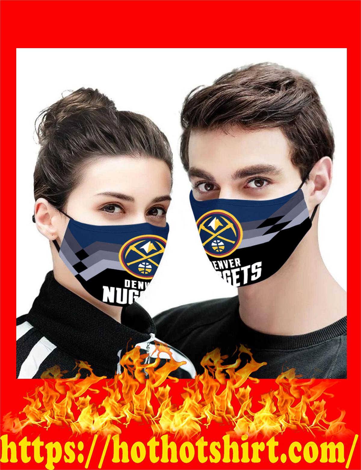 Denver Nuggets NBA face mask - detail