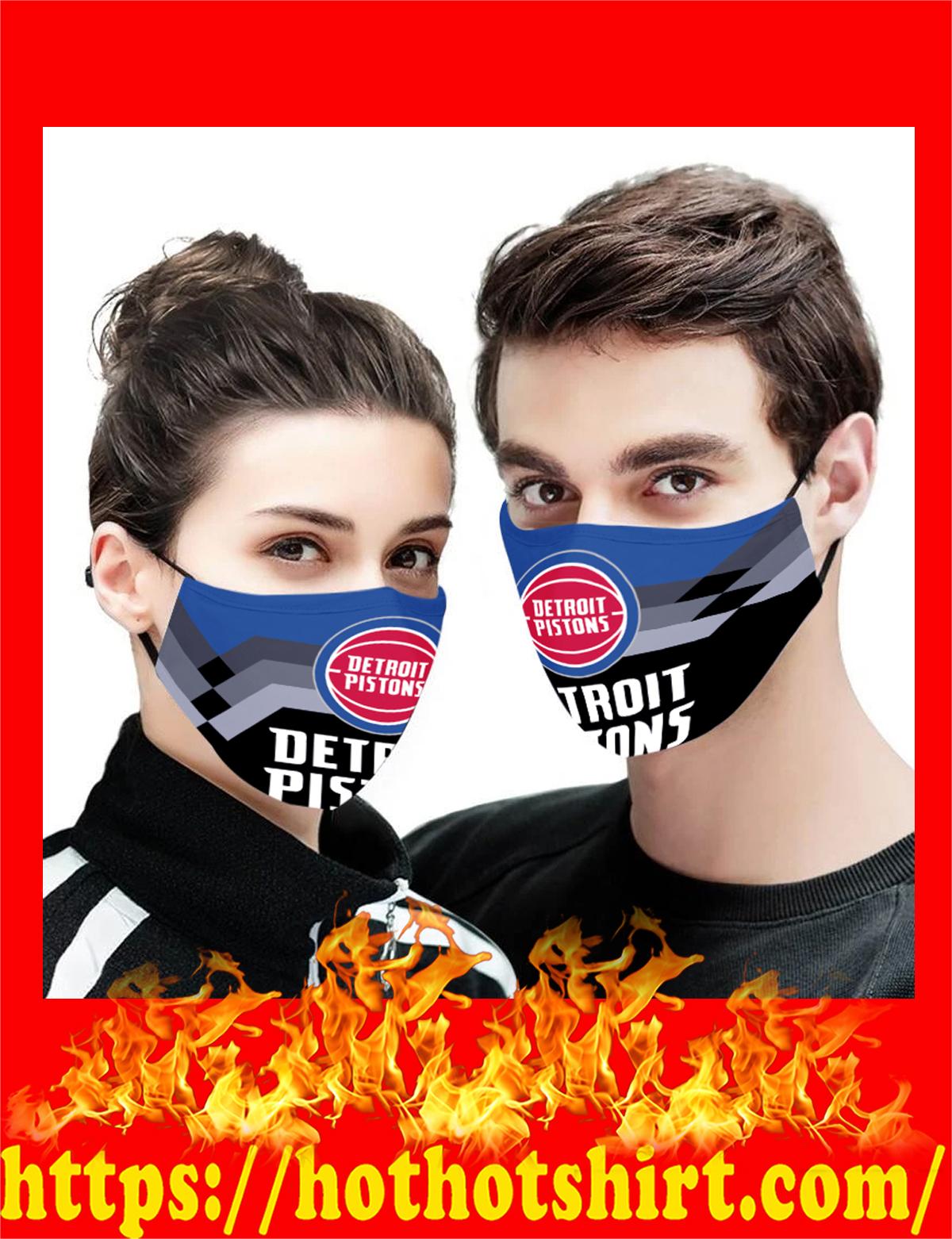 Detroit Pistons NBA face mask - detail