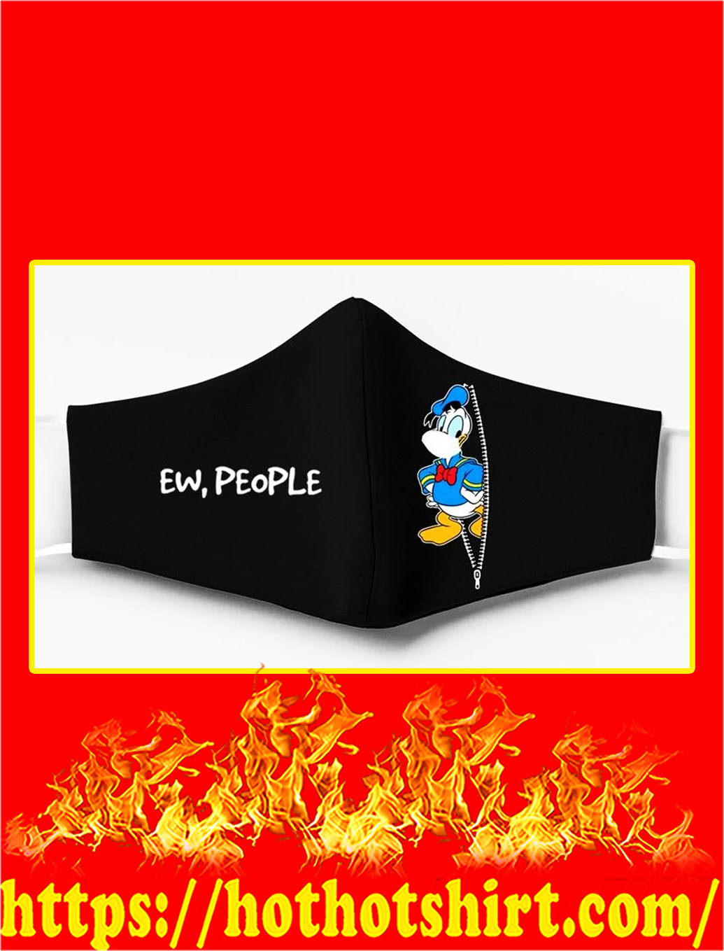 Donald duck ew people face mask - pic 1