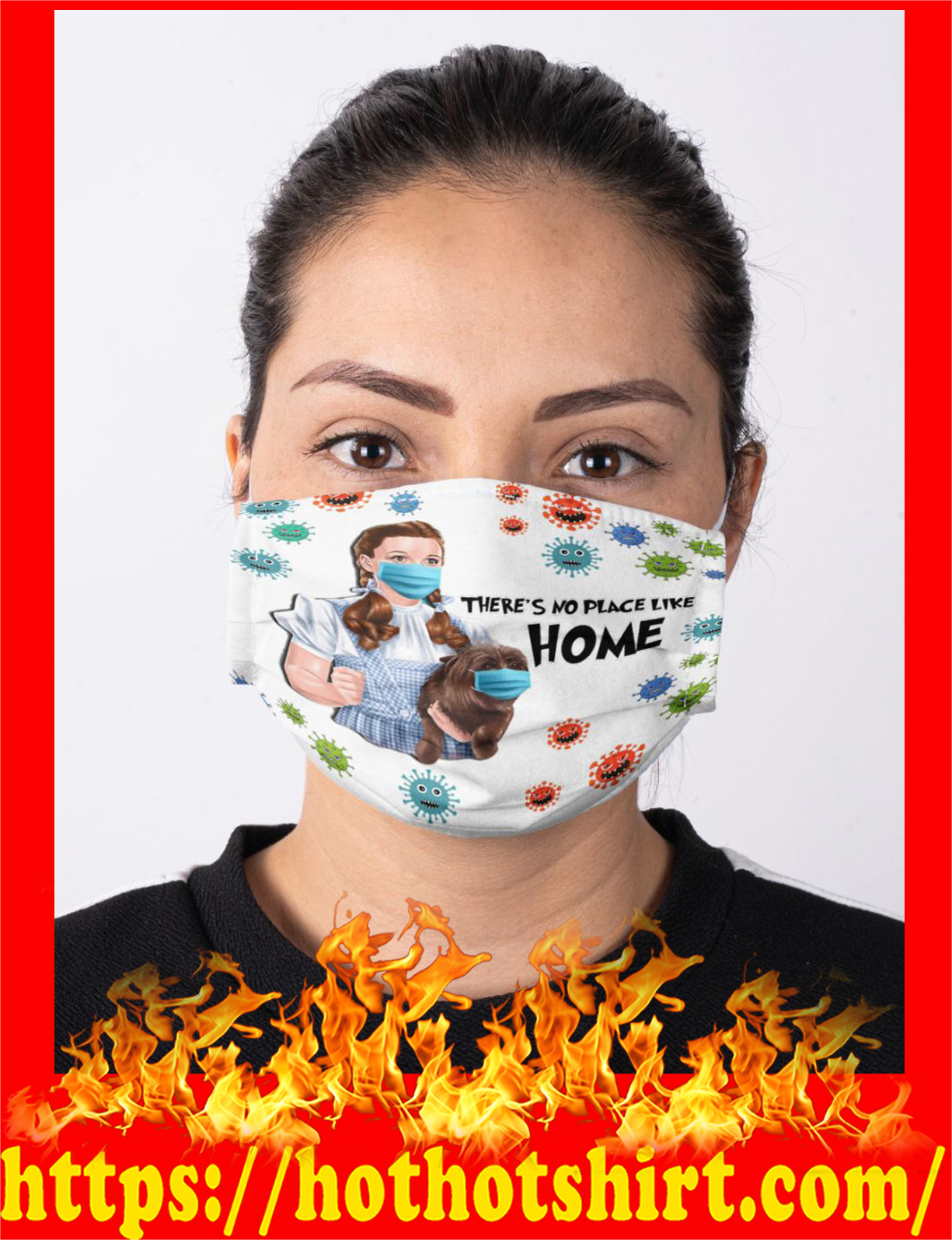 Dorothy gale and toto there's no lace like home face mask - detail