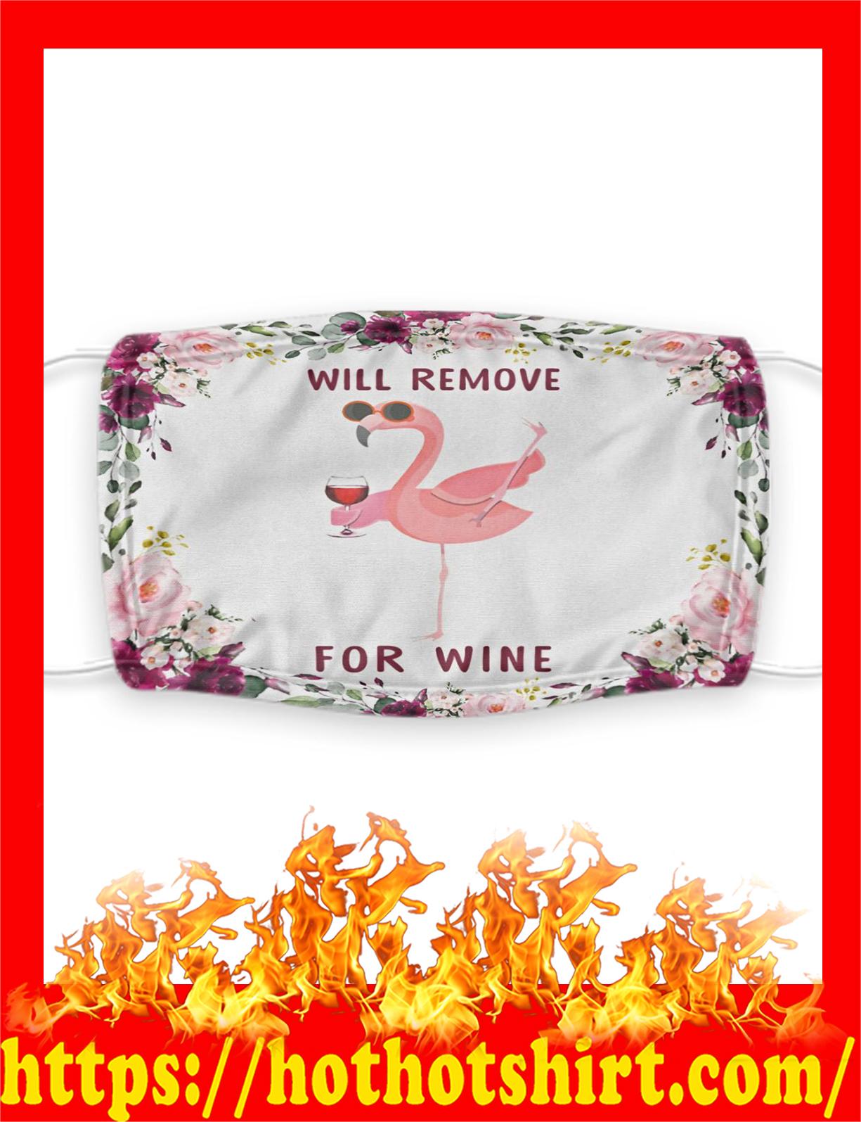Flamingo will remove for wine face mask - pic 2