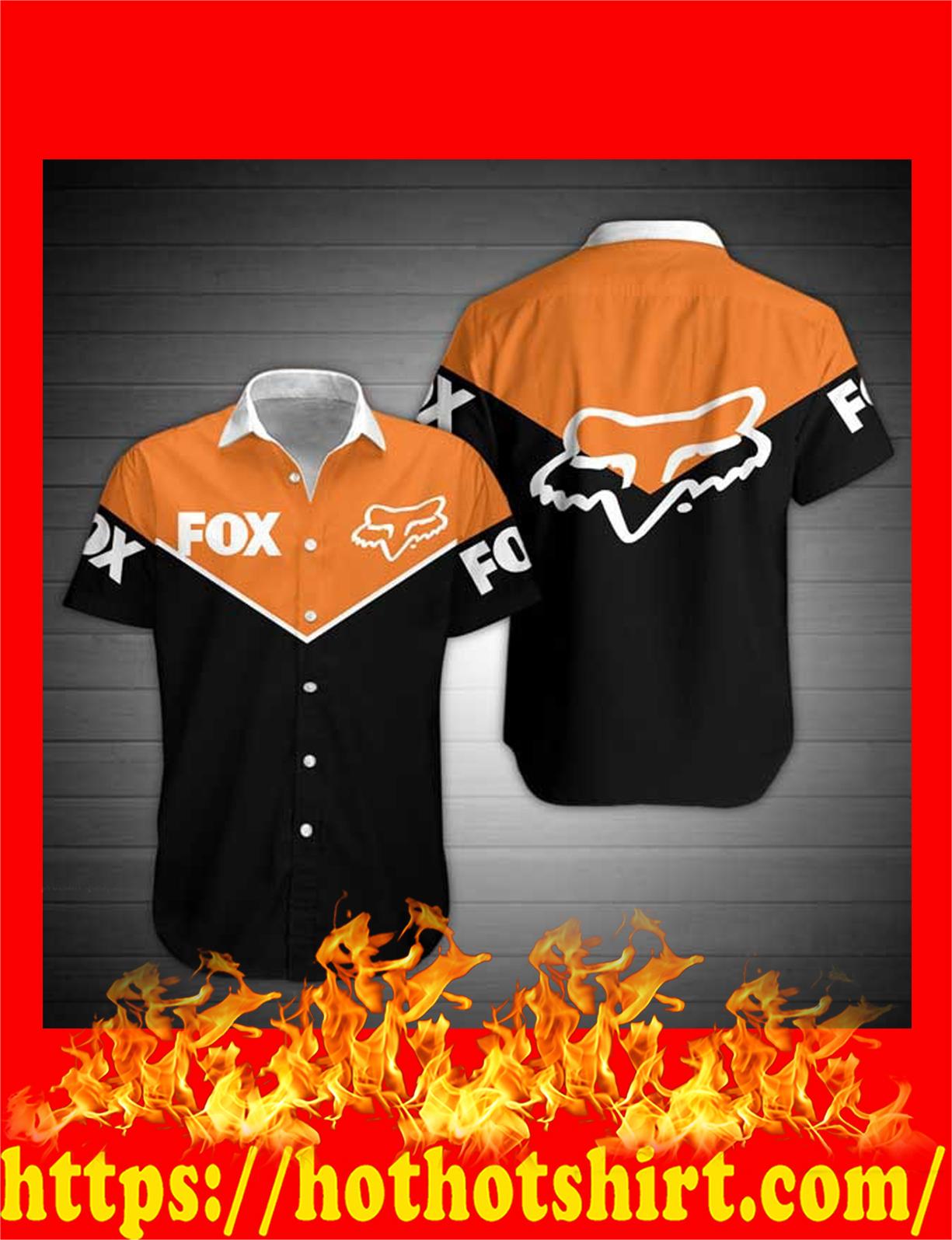 Fox racing hawaiian shirt - detail