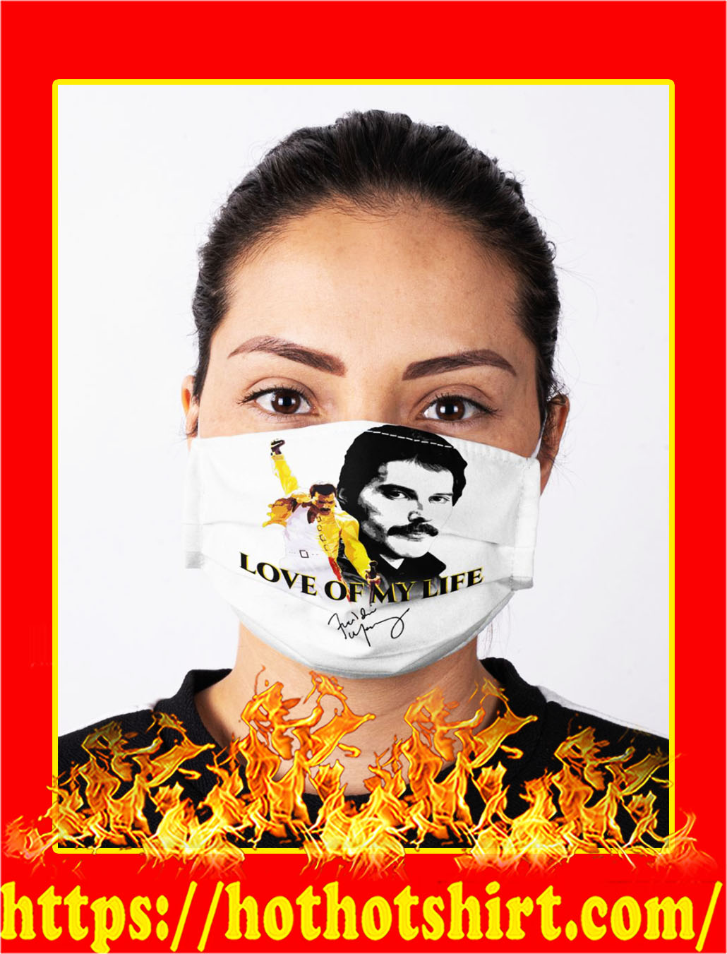 Freddie mercury love of my life signature face mask- pic 1