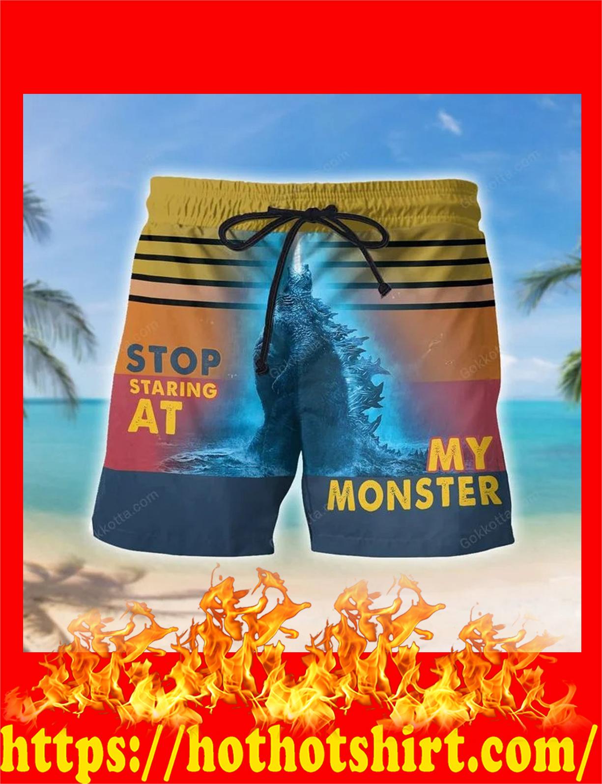 Godzilla Stop staring at my monster shorts