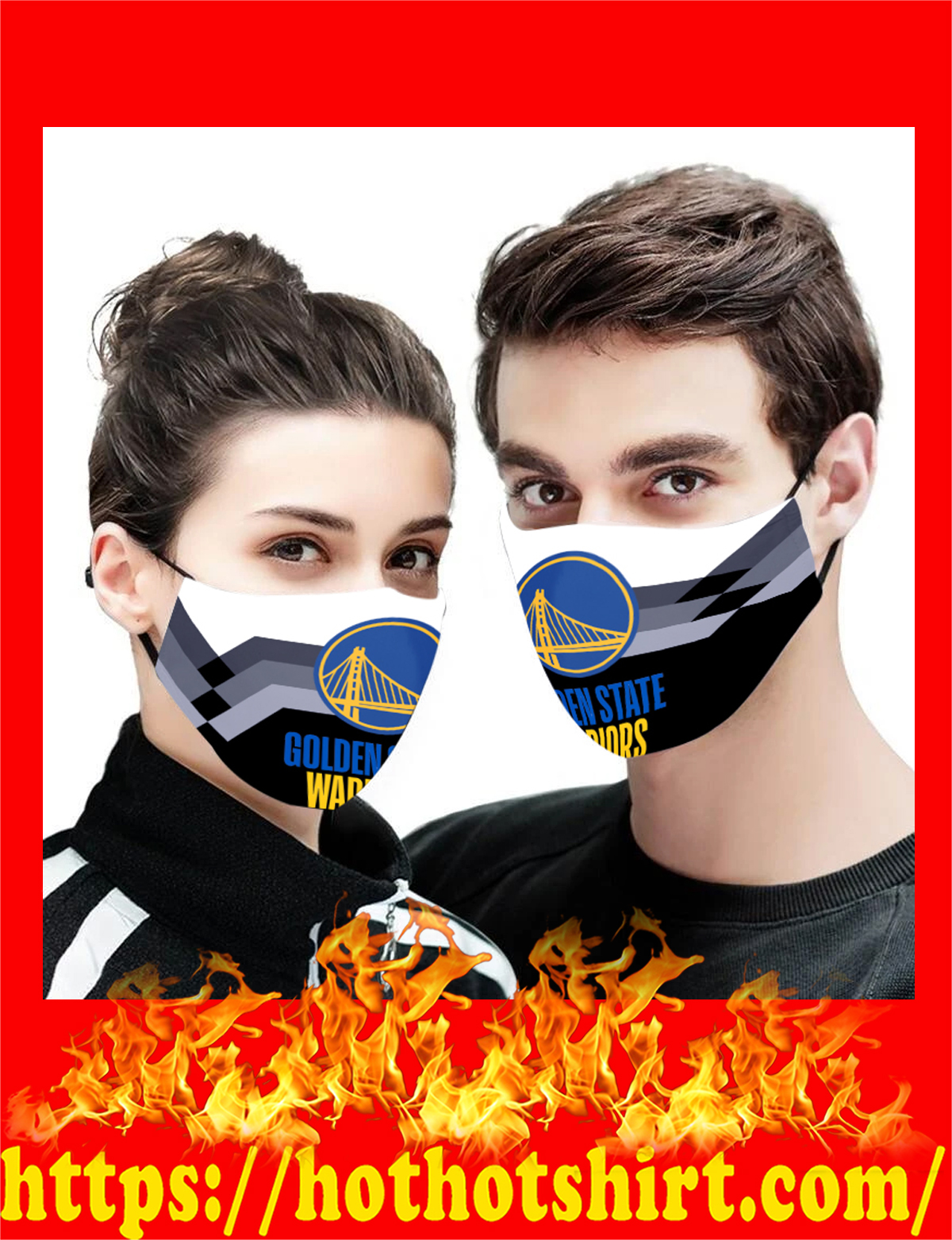Golden State Warriors NBA face mask - detail