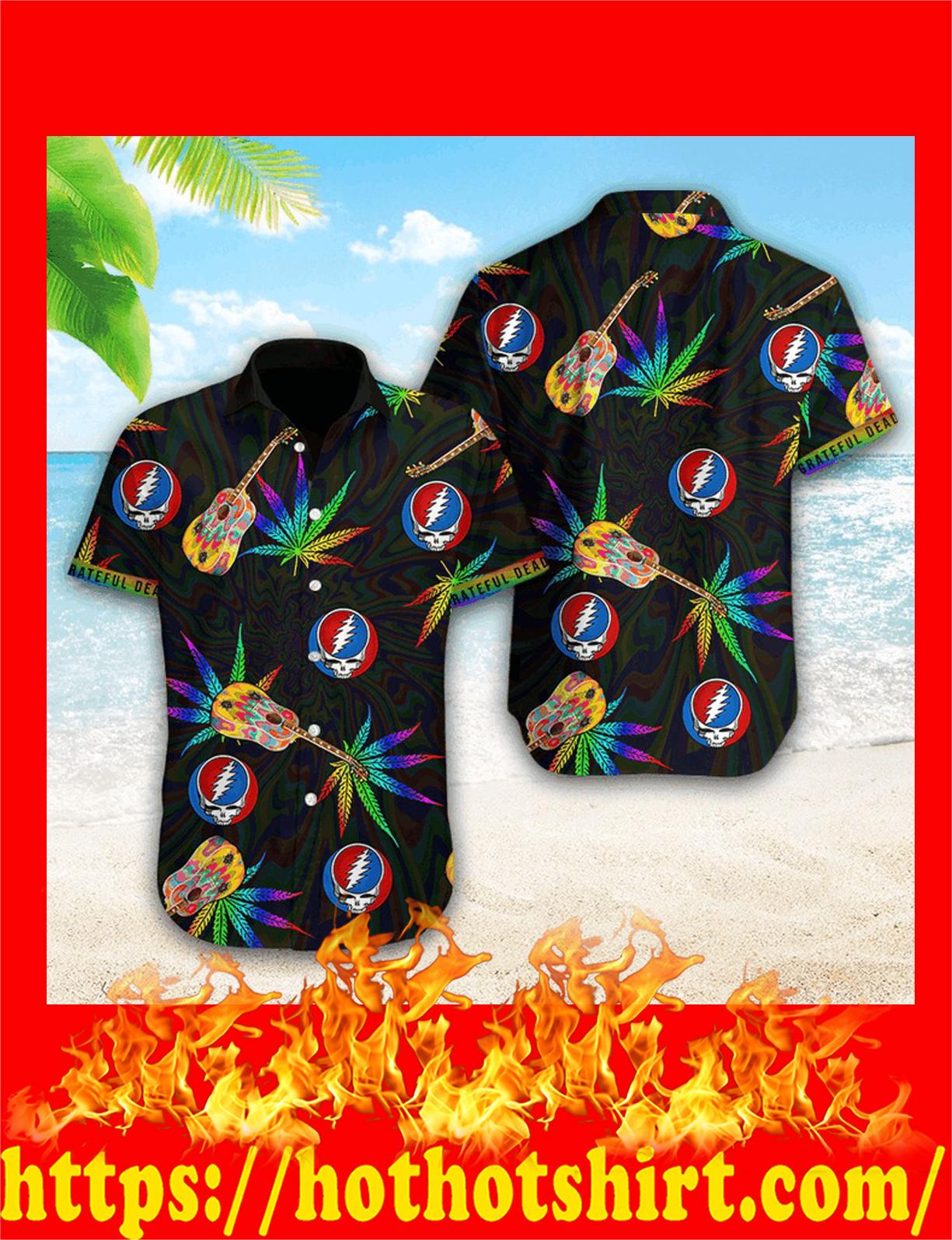 Grateful dead weed hawaiian shirt - detail
