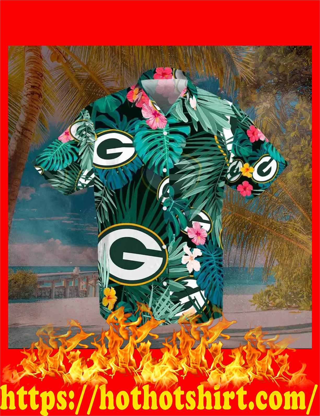 Green bay packers hawaiian shirt - detail
