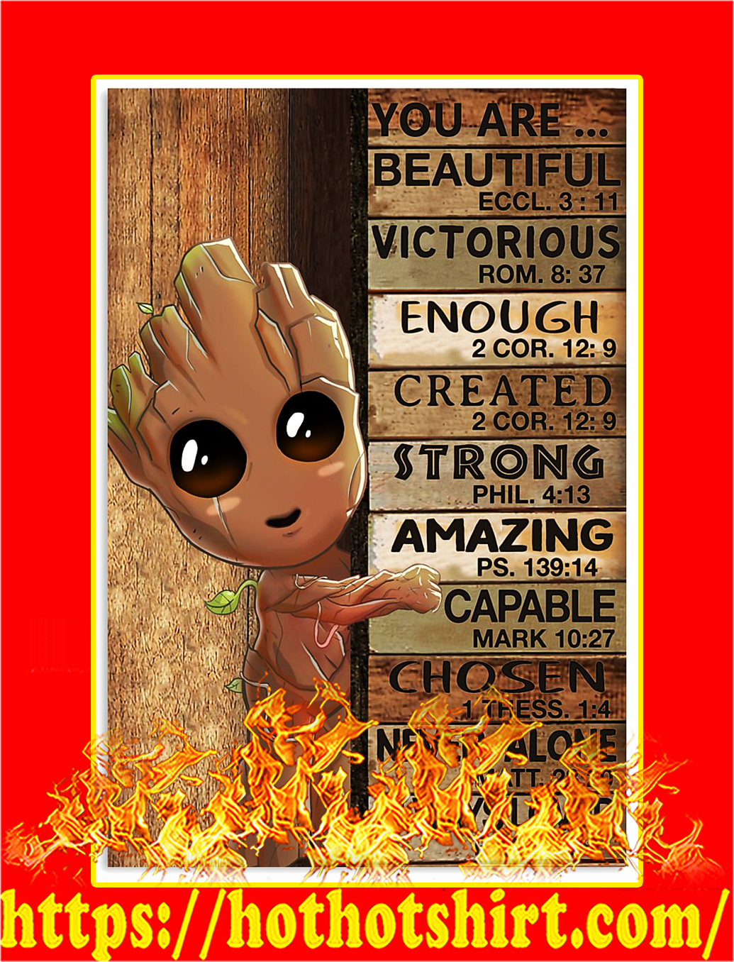 Groot You are beautiful victorious poster - A4