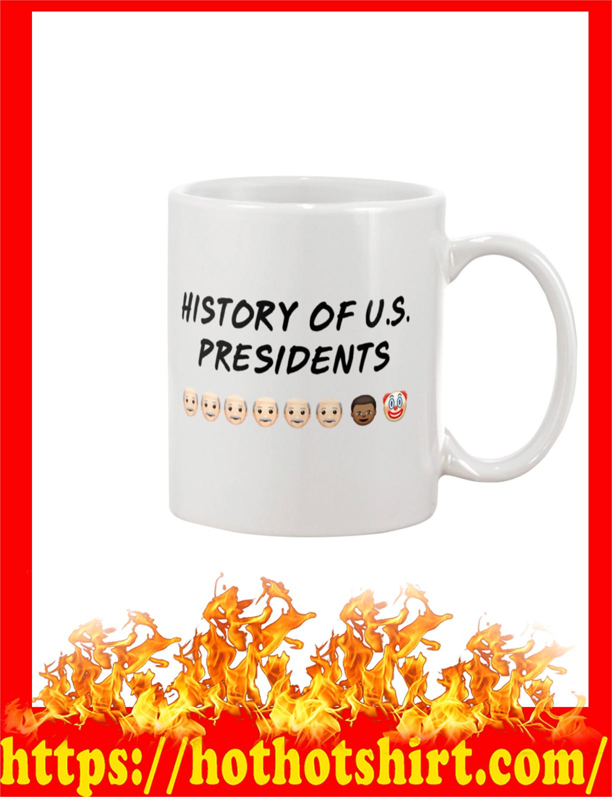 History of us presidents mug - detail
