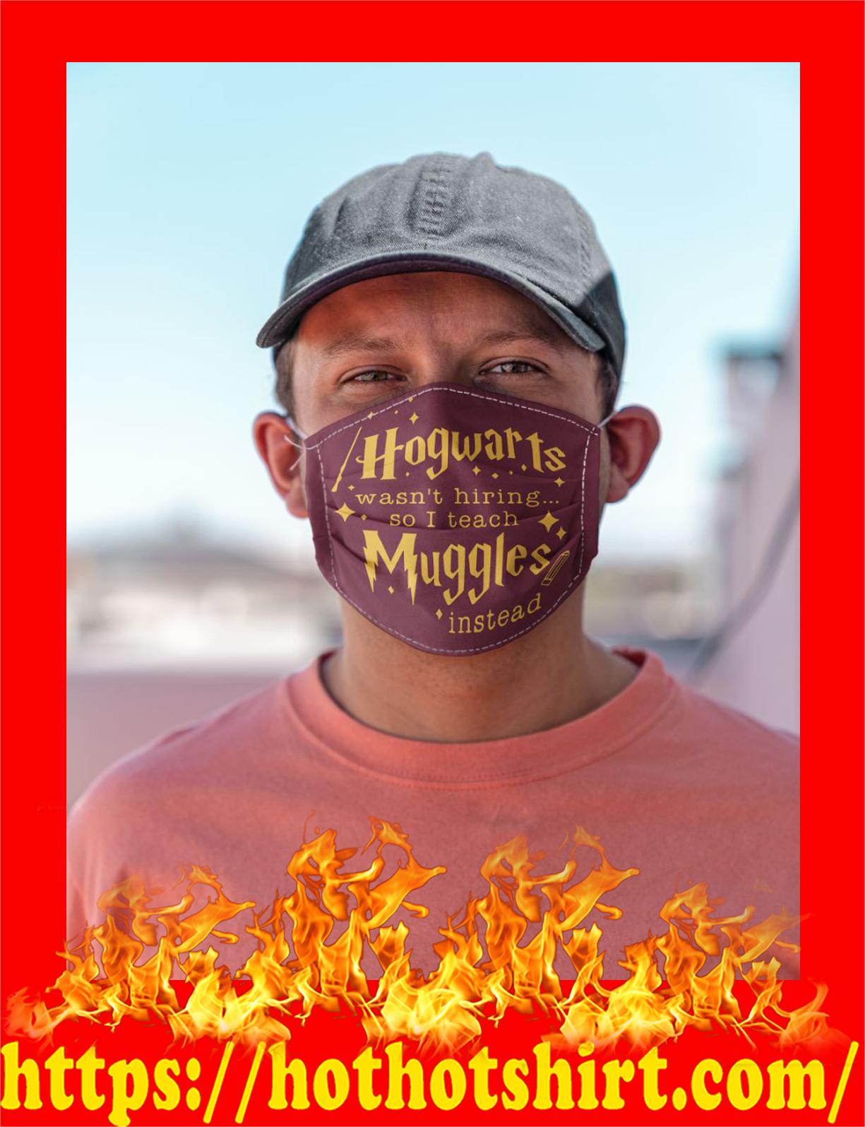 Hogwarts wasn't hiring so i teach muggles instead 3d face mask - detail
