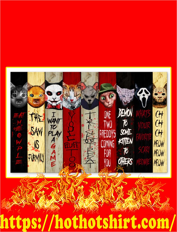 Horror cat eat meowple poster - A2