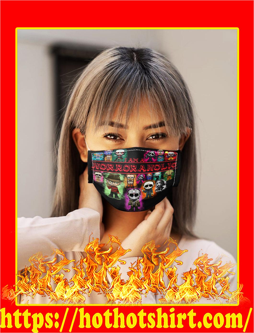 I am a horroraholic face mask- pic 1